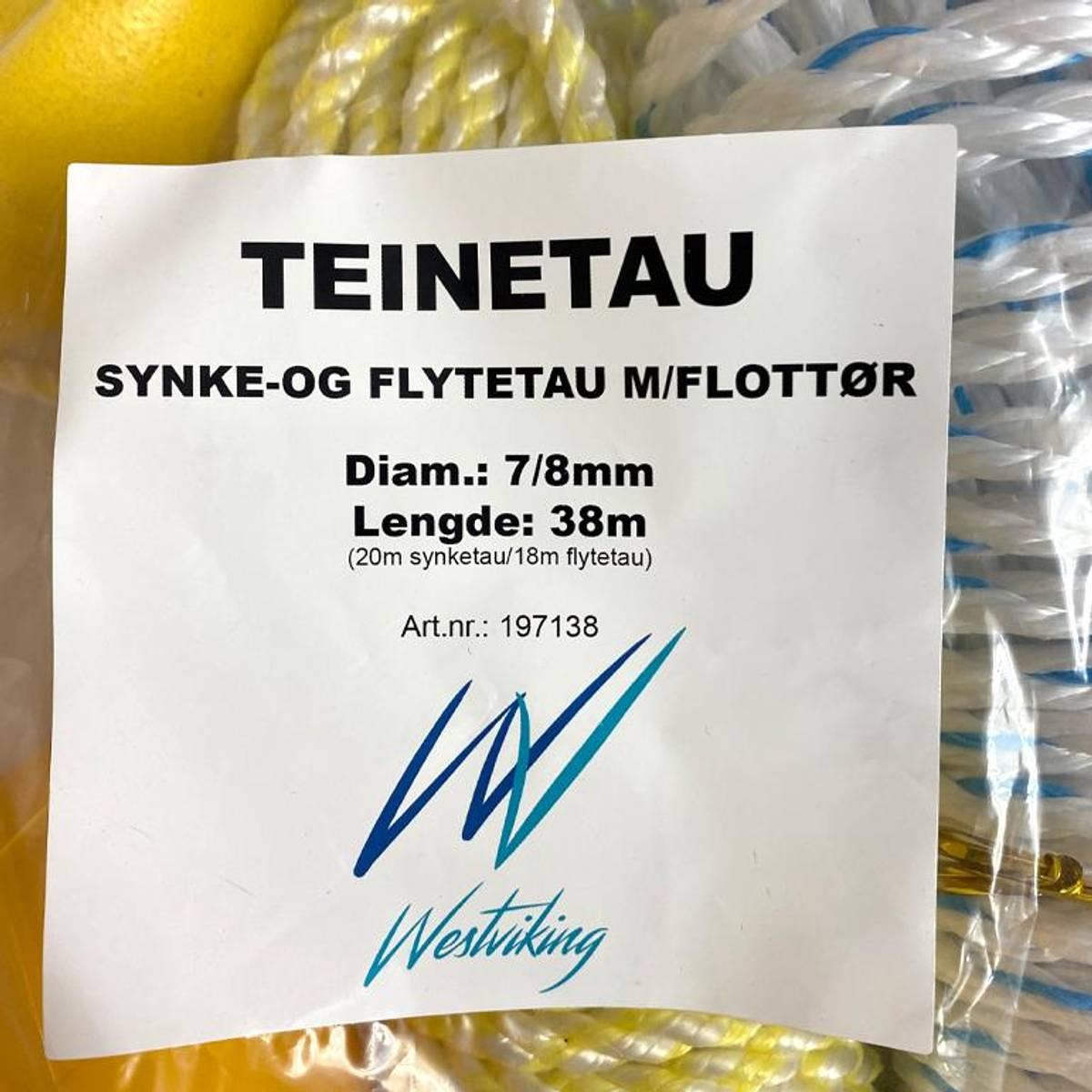 Teinetau 7 og 8 mm 38 meter Westviking